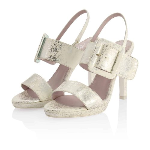 Grazielle Off-White Silver Leather 6